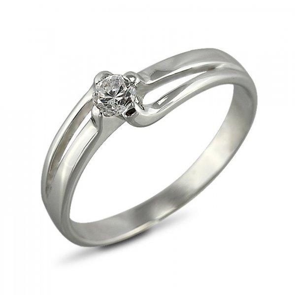 """Годежен пръстен """"ДИХАНИЕ-цирконии"""" R-1112"""