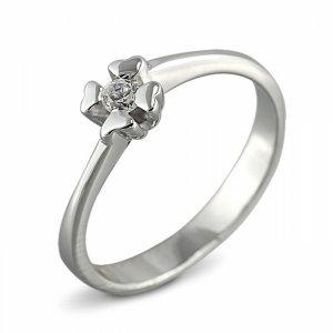 """Годежен пръстен """"ЩАСТИЕ-цирконии"""" R-1105"""