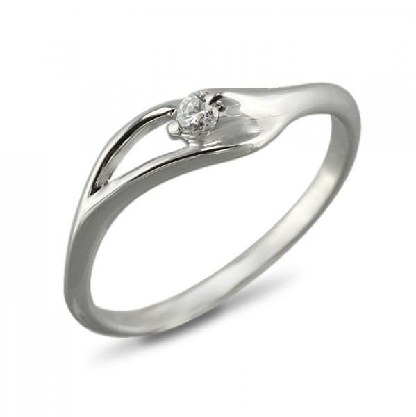 """Годежен пръстен """"ПЛАМ-цирконии"""" R-1087"""
