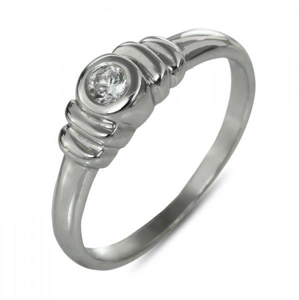"""Годежен пръстен """"ПЛИСЕ-цирконии"""" R-1144"""