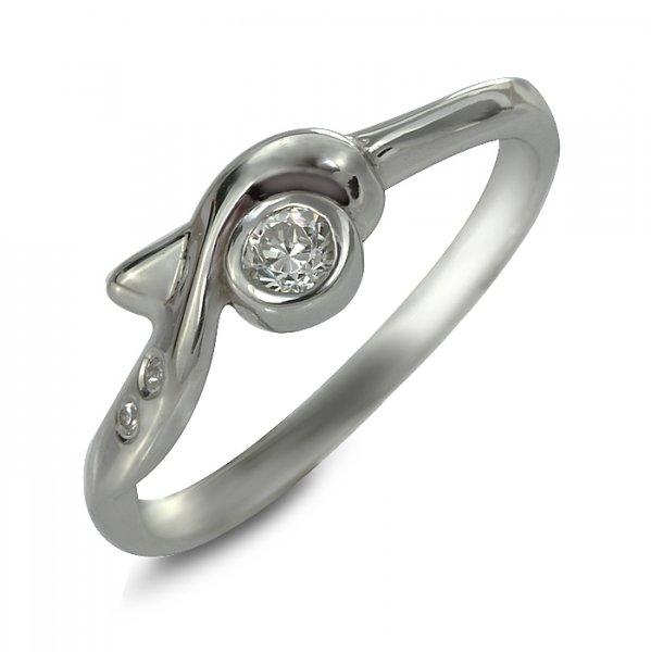 """Годежен пръстен """"ПОРИВ-цирконии"""" R-1136"""