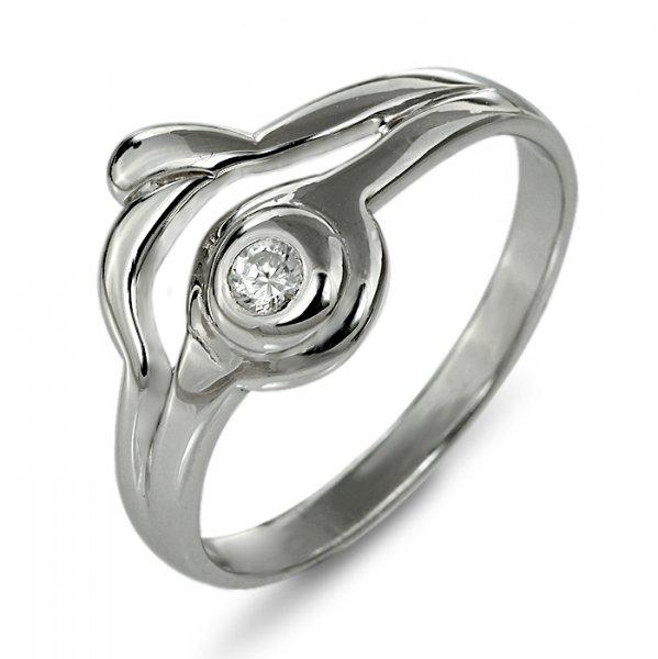 """Годежен пръстен """"ЛИСТО-цирконии"""" R-1142"""
