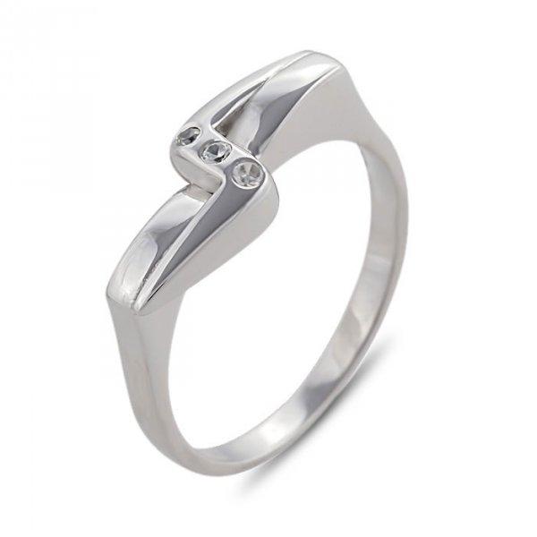 """Годежен пръстен """"ЗЕН-цирконии"""" R-1032"""