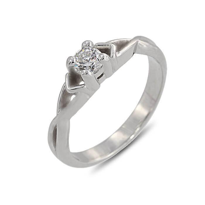 Годежен пръстен с цирконий