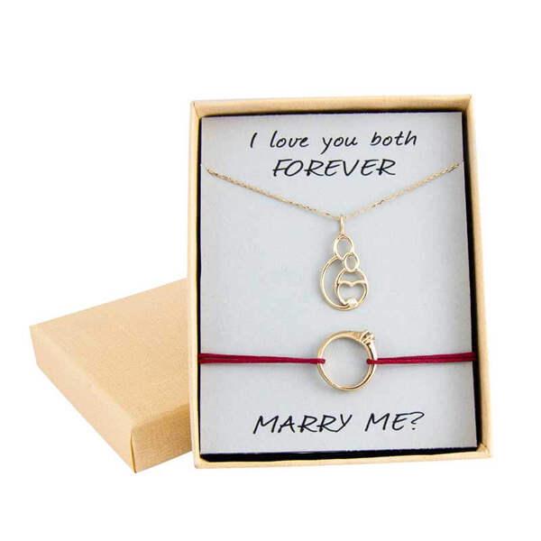 """Златен комплект """"Ще се омъжиш ли за мен"""""""