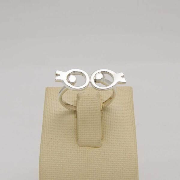 Сребърен пръстен R-105