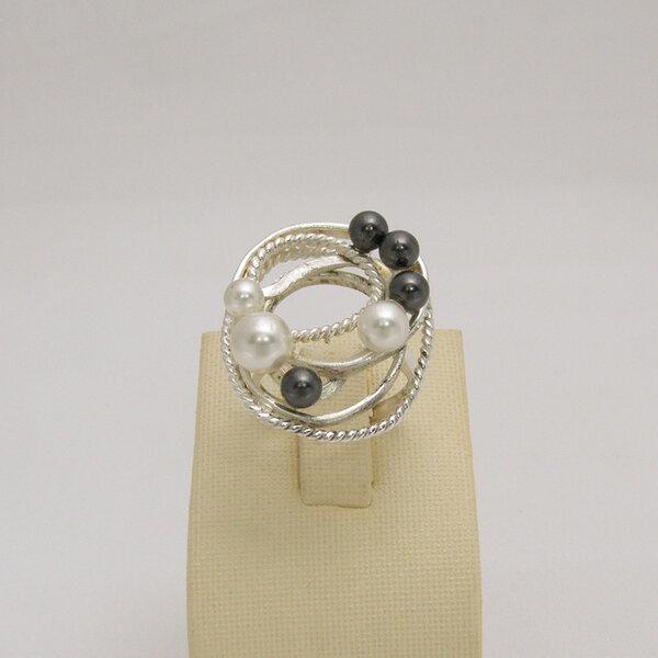 Сребърен пръстен R-122