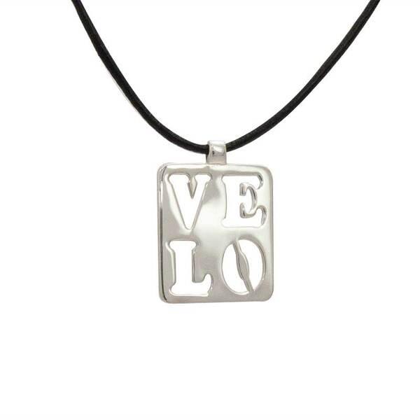 """Сребърно колие """"VELO/LOVE"""""""