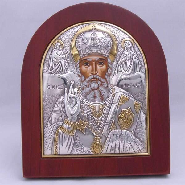 Сребърна икона на Св. Николай