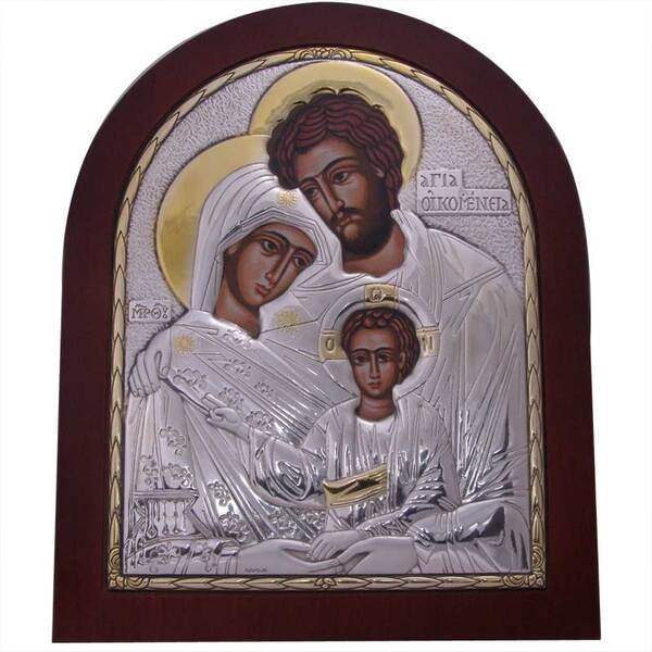 Сребърна кона Християнското семейство (голяма)
