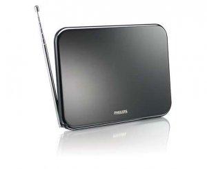 Philips цифрова TV антена вътрешна с усилване 42 dB за HDTV/UHF/VHF/FM