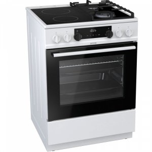 Готварска печка Gorenje KC6355WT, клас А, обем на фурна 65 л, бял