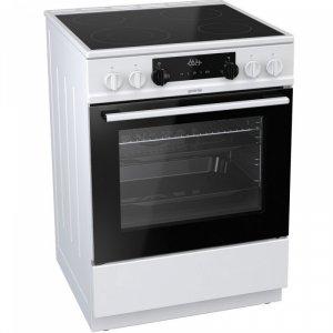 Стъклокерамична печка Gorenje EC6341WC, клас А, обем 65 л, бял