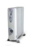 Маслен радиатор Tesy CB 2512 E 01 V, 301534, Мощност 2500 W, Дванадесет ребра, Вентилатор, Бял