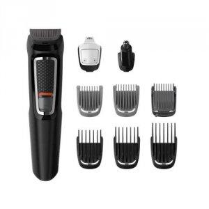 """Philips Тример MULTIGROOM """"9 в 1"""", лице и коса  series 3000 - 9 инструмента, Самонаточващи се ножчета от стомана, До 60 минути време за работа без кабел"""