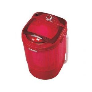 Мини пералня Lamarque LWM 25040, Центрофуга, Таймер, Капацитет 3.5 кг, Червена