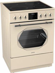 Стъклокерамична готварска печка Gorenje EC63INI, Обем на фурната 65л, Електронен таймер