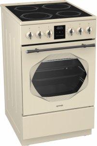 Стъклокерамична готварска печка Gorenje EC53INI, Обем на фурната 70л, Електронен таймер