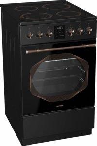 Стъклокерамична готварска печка Gorenje EC53INB, Обем на фурната 70л, Електронен таймер