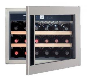 Уред за съхранение на вино за вграждане Liebherr WKEes553, Обем 46л, Инокс