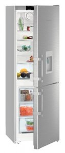 Хладилник с фризер с NoFrost Liebherr CNef3535, Клас А++, Обем 305л, Инокс