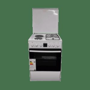Комбинирана готварска печка Diplomat DPL-AF21Т, Вентилатор, Обем на фурната 63л, Бяла