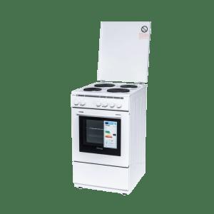 Готварска печка Diplomat DPL-5041FT, Обем 48 л, Бързонагряващ котлон, Грил, Бяла
