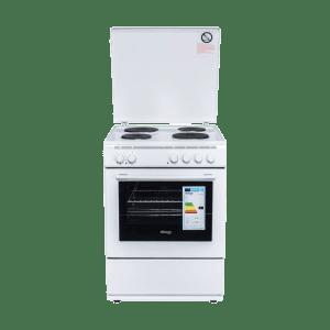 Готварска печка Diplomat DPL-6041FT, Обем 56 л, Вентилатор, Грил, Бяла