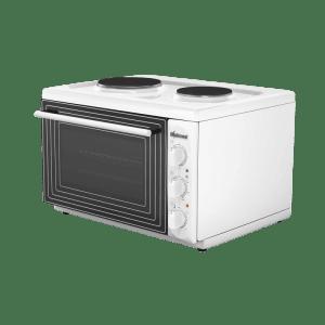 Готварска печка Diplomat DPL-W20,Обем 38 л, Клас А, 2 котлона, Бяла