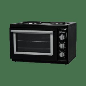 Готварска печка Diplomat DPL-BS20,Обем 38 л, Клас А, 2 котлона, Черна