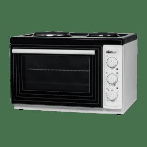 Готварска печка Diplomat DPL BW20,Обем 38 л, Клас А, 2 котлона, Бяла с черно