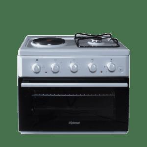 Комбинирана готварска печка Diplomat C 11 EG MX W MAXI, Клас А, Обем 48л, Бяла
