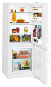 Хладилник с фризер Liebherr CU 2311, Клас А++, Бял, Обем 208 л