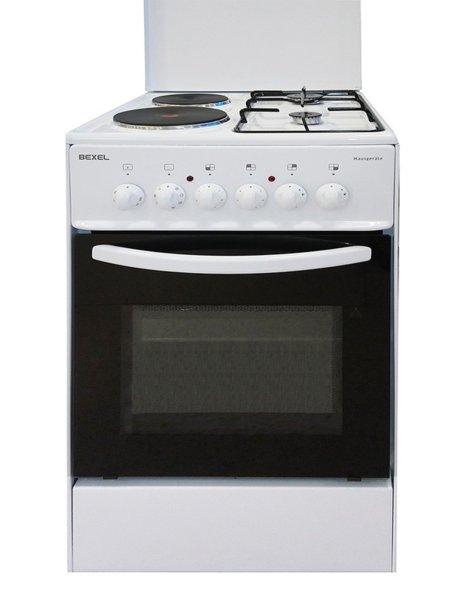 Готварска печка Bexel BTF-2000.60 G2 FL9 LID, Енергиен клас А, Бяла