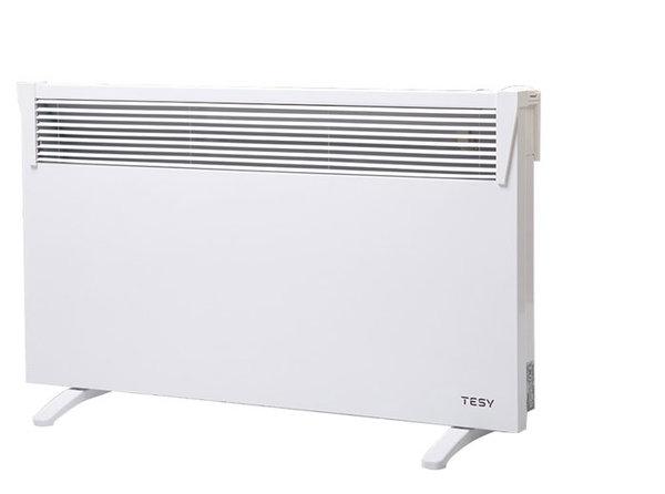 Панелен конвектор Tesy CN 03 150 MIS F, 304044, Подов, Механично управление, Мощност 1500W, Бял