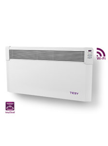 Панелен конвектор Tesy  CN 04 200 EIS CLOUD W, 304195, Управление през интернет, Mощност 2000W, Бял