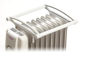 Сушилник за дрехи за маслен радиатор Tesy  CB 12/14, 301266, Елегантен дизайн, Бял