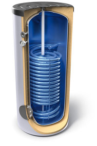 Eмайлиран бойлер с двойна нискотемпературна серпентина Tesy EV 2X23S 500 75, 302167, Енергиен клас C, Обем 500 L