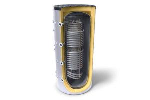 Комбиниран буфер с хигиенна серпентина и два топлообменника Tesy V 12/6 S2 800 95 HYG5.5