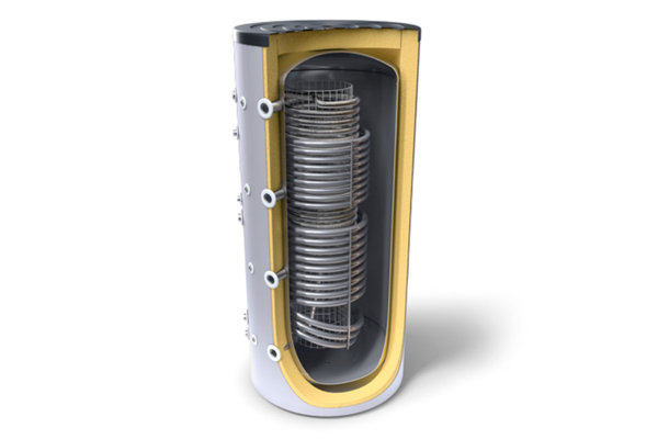Комбиниран буфер с хигиенна серпентина и два топлообменника Tesy V 12/9 S2 1000 99 HYG5.5