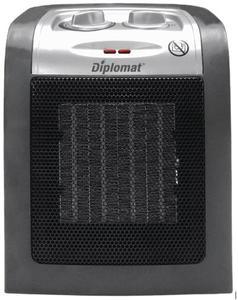 Вертикална керамична отоплителна печка Diplomat DPL V 4011S, Мощност  800 W, Сива