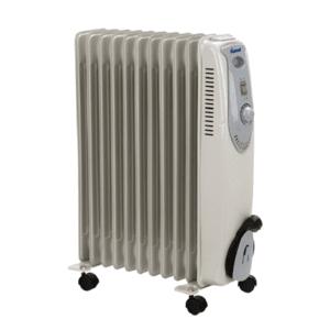 Маслен радиатор Diplomat DPL OFR 2514, Мощност 2500 W, 3 степени за отопление, С колелца
