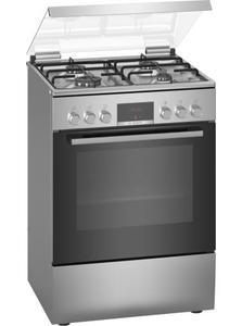 Свободностояща комбинирана готварска печка с газови котлони Bosch HXN39BD50, Енергиен клас А,  Мощност 3.3 kW, Инокс