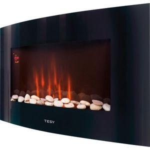 Електрическа камина Tesy WEF 200 SRELW, 2000 W, LED дисплей, Дистанционно