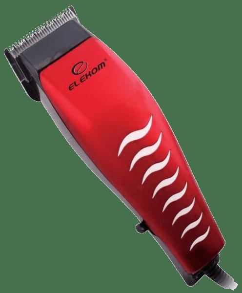 Машинка за подстригване Еlekom EK-1116, 18W, червена