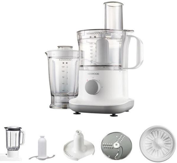 Кухненски робот Kenwood FPP230 Multipro, 750 W, 2 Скорости + Pulse, Купа 1.2 л, Блендер 1.2 л, Бял
