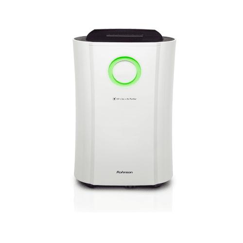 Обезвлажнител с йонизатор и UV-C лампа Rohnson R-9190, Филтър за прах, Бял