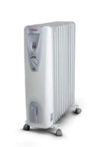 Маслен радиатор Tesy CB 2512 E01 R, 301533, Мощност 2500 W, Дванадесет ребра, Бял