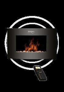 Електрическа камина Tesy WEF 200 SREL, мощност 2000W, 2 степени