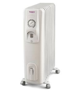 Маслен радиатор Tesy CC 2510 E05 R, 301762, Мощност 2500 W, Десет ребра, Бял
